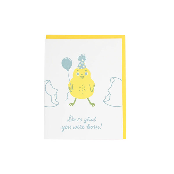 Party Chick Birthday Card Smudge Ink - Foursided
