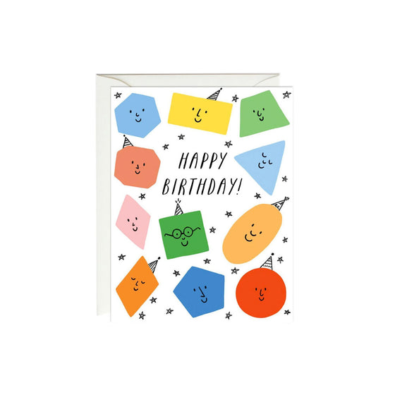 Birthday Shapes Card Paula & Waffle - Foursided