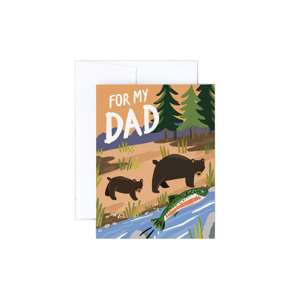 Fishing Bears Dad Card Idlewild Co. - Foursided