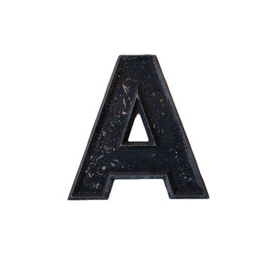 Vintage Metal Marquee Letter 'A'