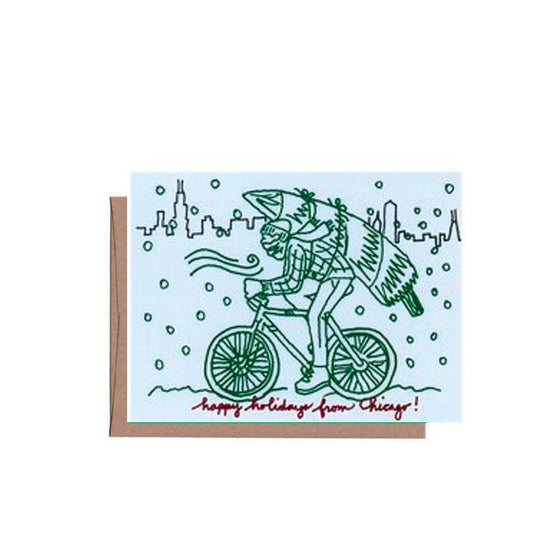 Chicago Winter Bike Card Set (8)