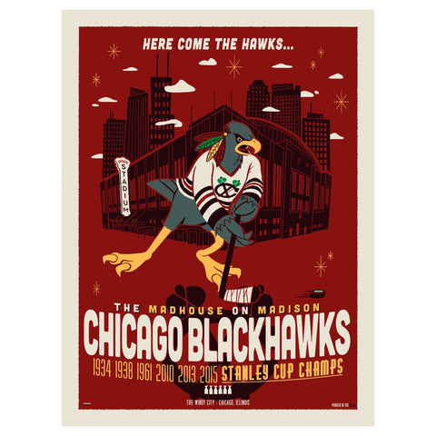 18x24 Chicago Blackhawks Print