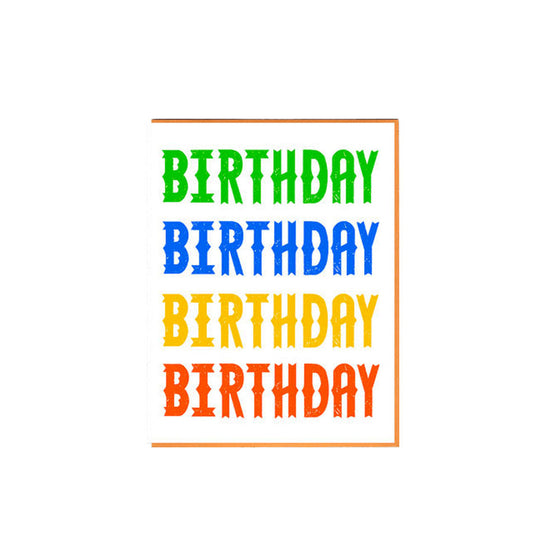 4 Bdays Colorful Birthday Card