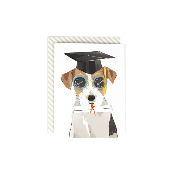 Bright Future Grad Dog Card Amy Heitman - Foursided