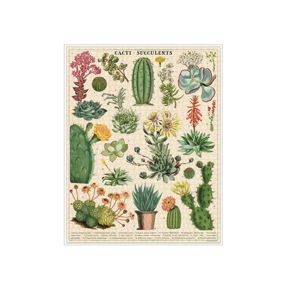 Cacti & Succulents Puzzle (1,000 Pieces)