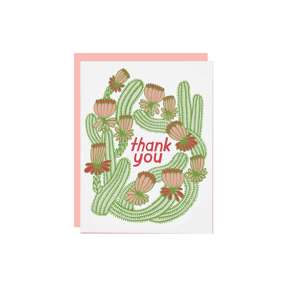 Cactus Thank You Card The Good Twin - Foursided
