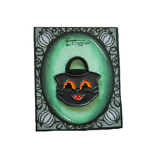 Black Cat Halloween Bucket Pin