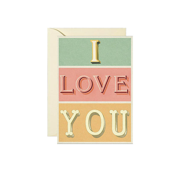 Cavallini I Love You Card Cavallini - Foursided
