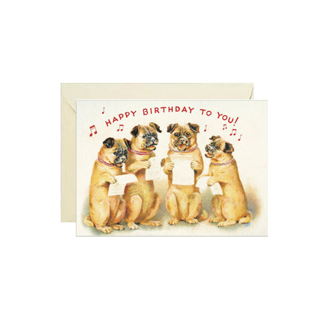 Singing Dogs Birthday Card