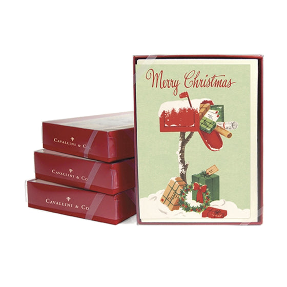 Christmas Mailbox Boxed Holiday Cards