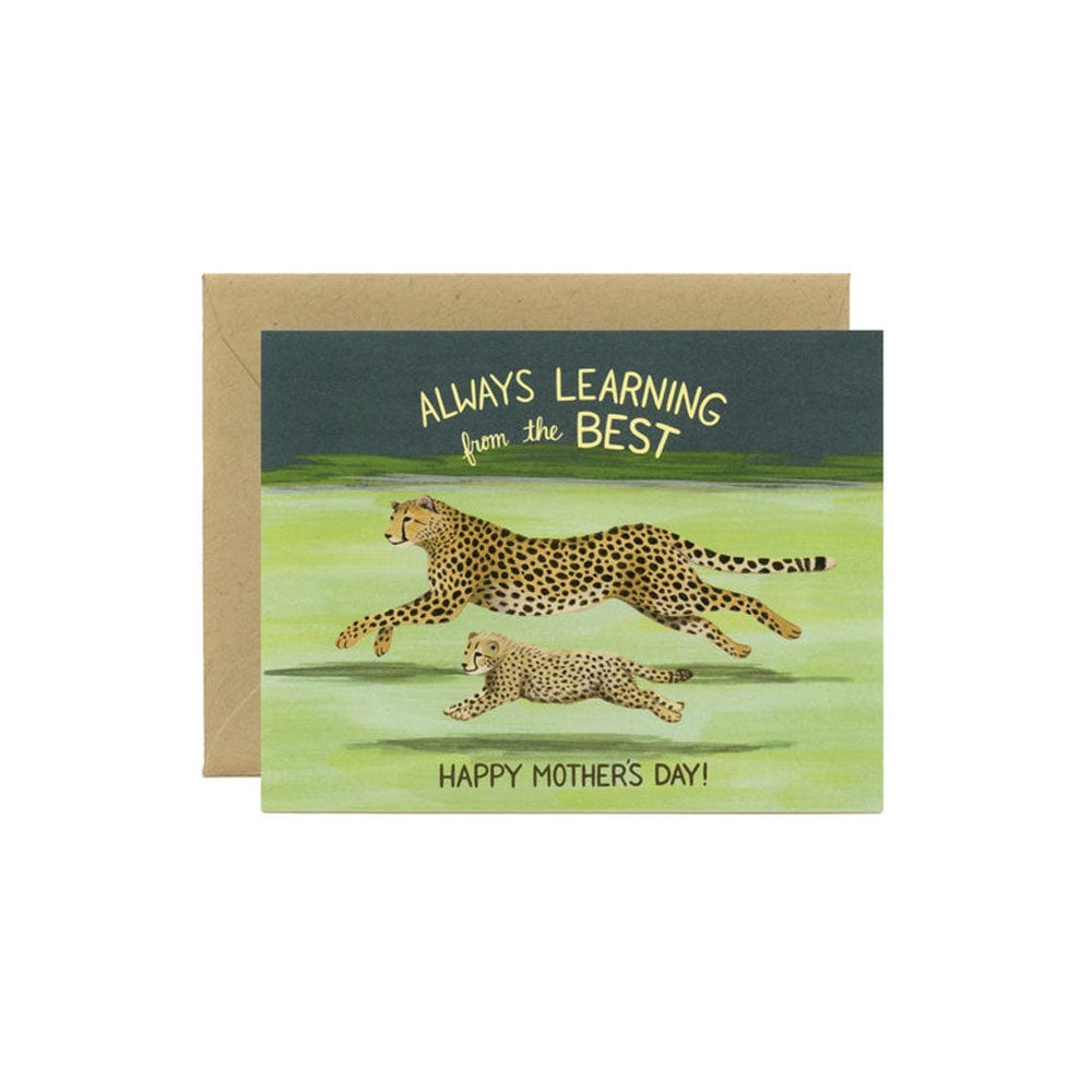 Cheetah Mom Card Yeppie Paper - Foursided