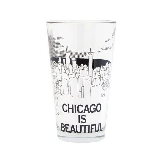 Chicago is Beautiful Pint Glass RAYGUN - Foursided