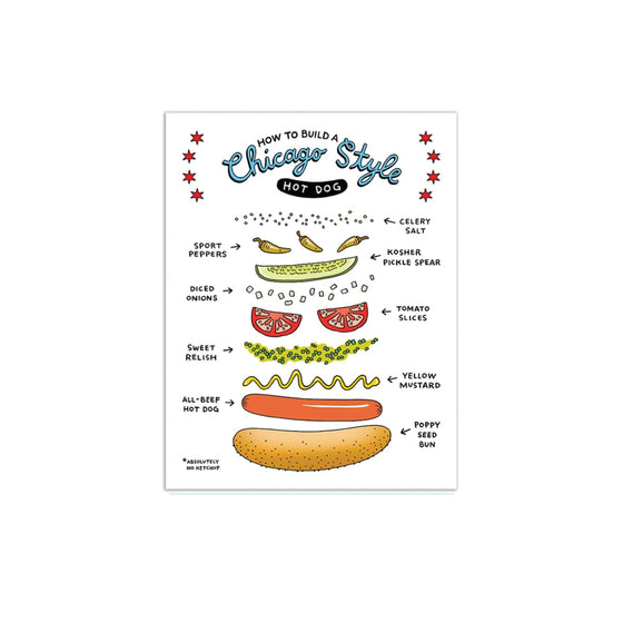 Chicago Style Hot Dog Greeting Card