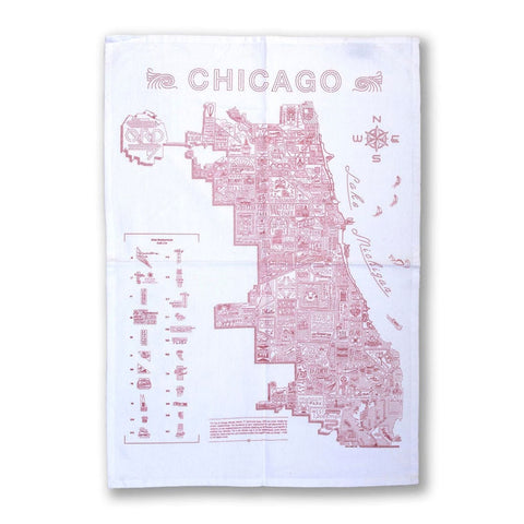Neighborhood Map Flour Sack Towel