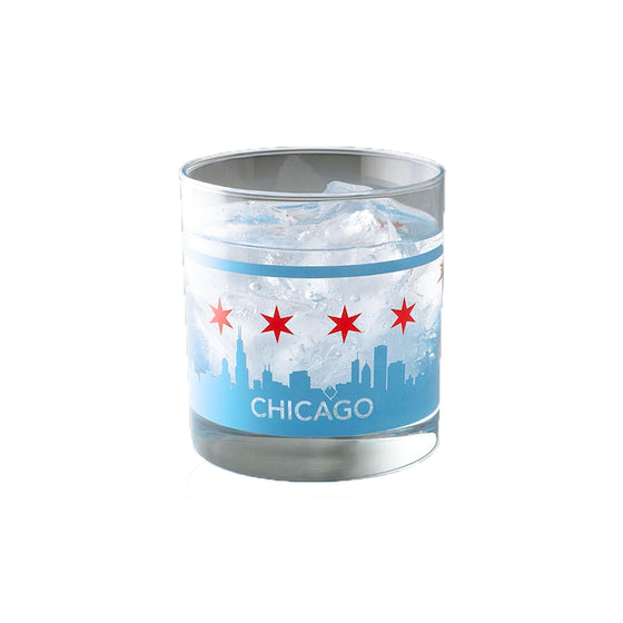 Chicago Skyline Tumbler Crash Natural Soy Candles - Foursided