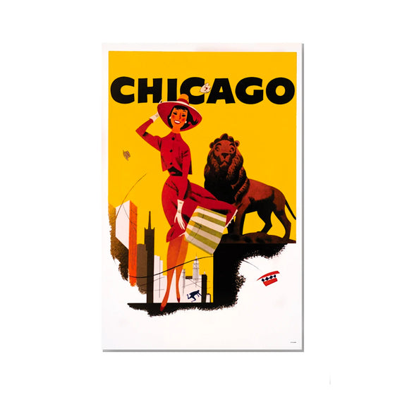 Chicago Lady and Lion Magnet Popcorn Movie Poster Co. - Foursided