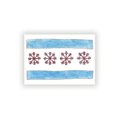 Chicago Flag Holiday Card Set (6)