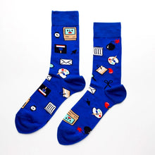 Men's Computer Nerd Socks Yellow Owl Workshop - Foursided