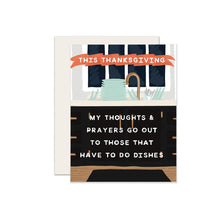 Thoughts & Prayers Thanksgiving Card
