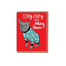 Dog In Cozy Pajamas Holiday Card