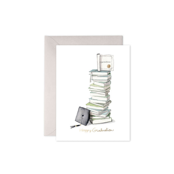 Graduation Book Stack Card