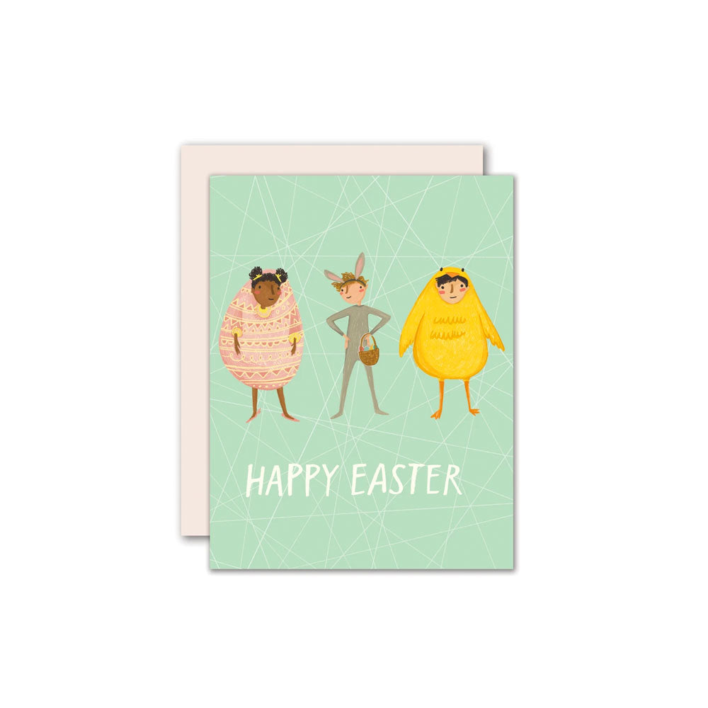 Easter Dress Up Card Pencil Joy - Foursided