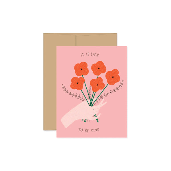 Easy To Be Kind Card Gingiber - Foursided