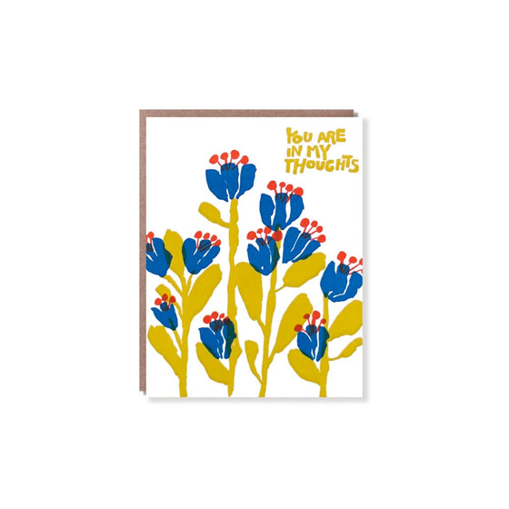 In My Thoughts Flowers Card Egg Press - Foursided