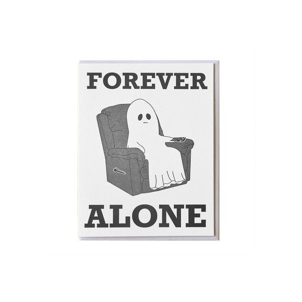 Ghost Forever Alone Card McBitterson's - Foursided
