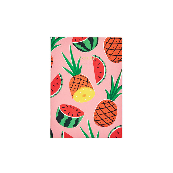 Pineapples and Watermelons Mini Notebook