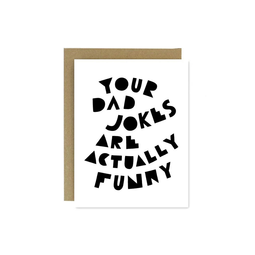 Dad Jokes Card Worthwhile Paper - Foursided