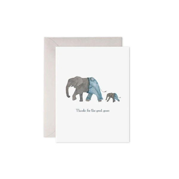 Elephant Genes Card E. Frances - Foursided