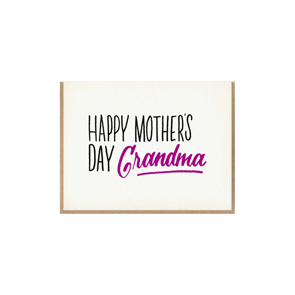 Grandma Mother's Day Card Bench Pressed - Foursided