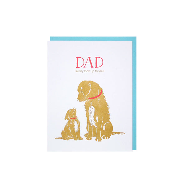 Father Son Goldens Card Smudge Ink - Foursided