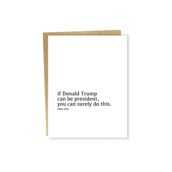 Well Wishes President Card