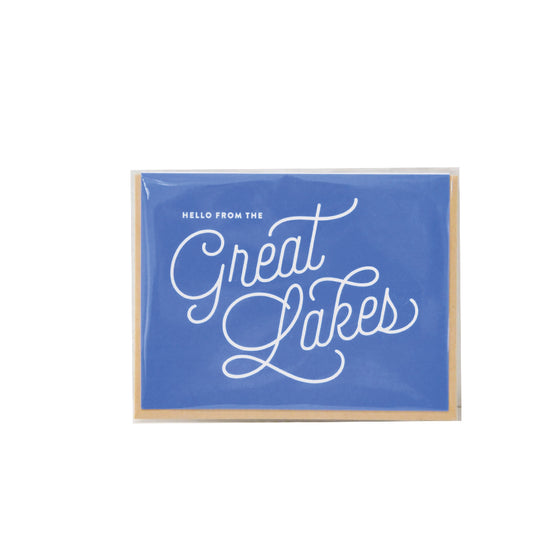 """Hello From The Great Lakes"" Card"