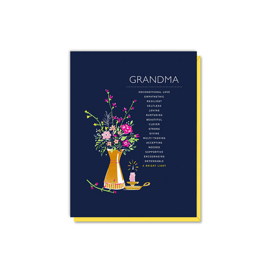 Grandma Vase & Candle Card