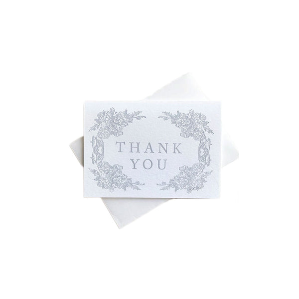 Grey Floral Thank You Boxed Cards