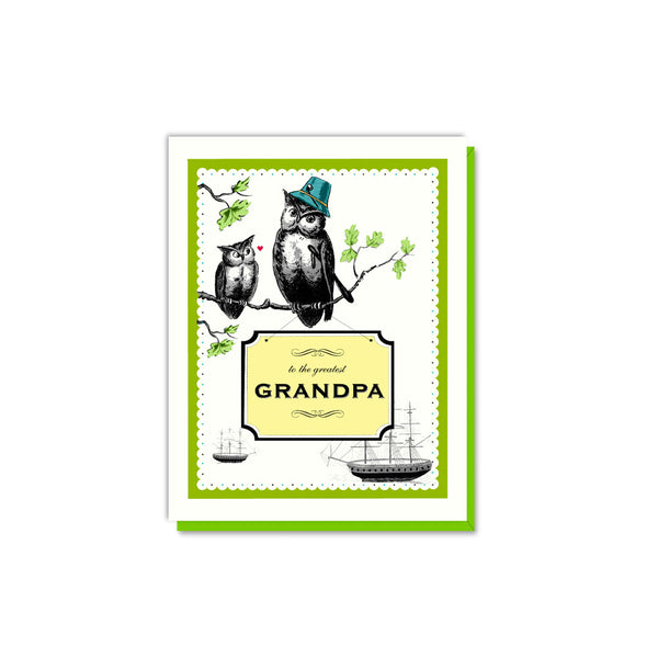 Greatest Grandpa Owls Card