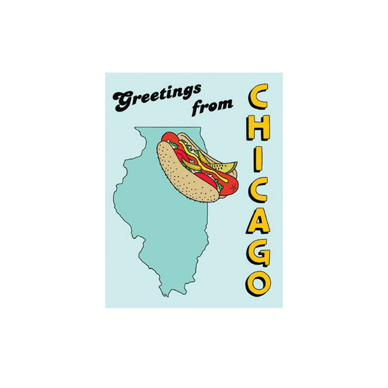 """Hot Dog Greetings"" Card"