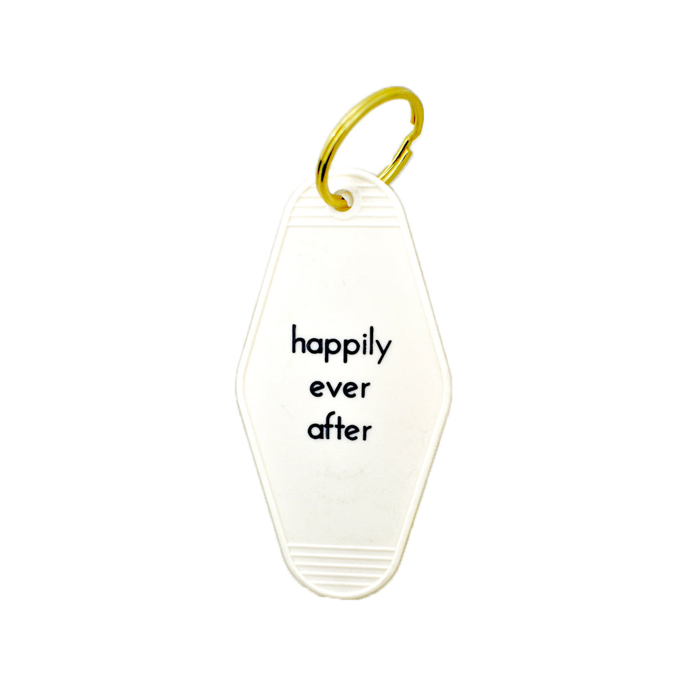 Happily Ever After Key Tag He Said She Said - Foursided