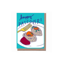 Gefilte Fish Passover Card La Familia Green - Foursided