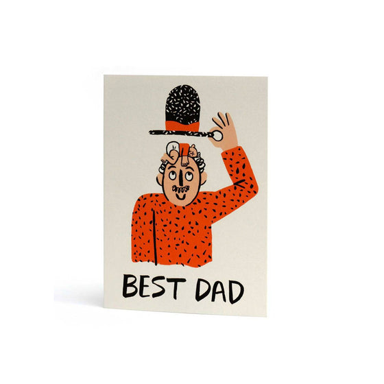 Best Dad Hat Card Wrap - Foursided