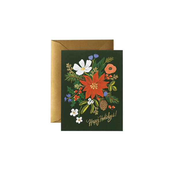Holiday Bouquet Card Set (8) Rifle Paper Co. - Foursided