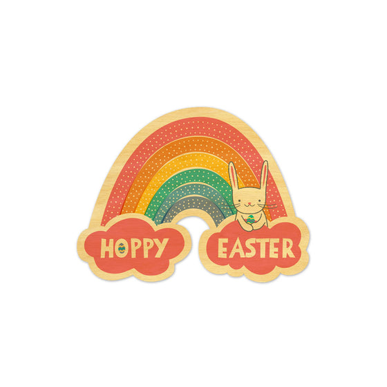Easter Rainbow Wood Card Night Owl Paper Goods - Foursided