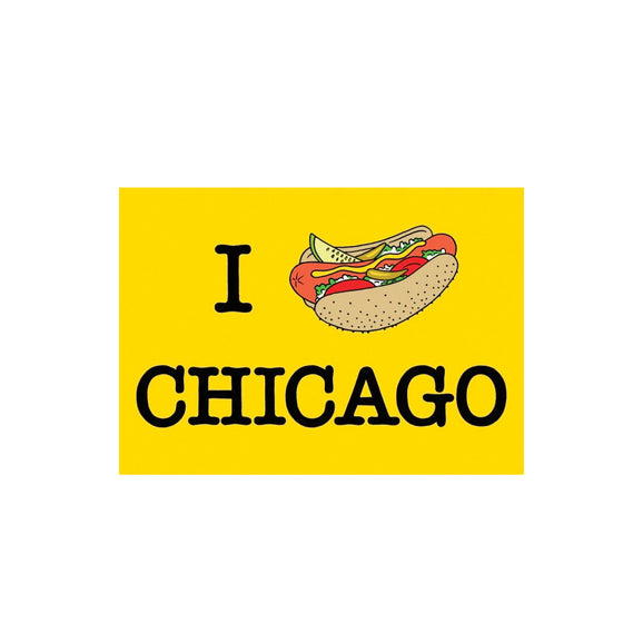 Chicago Hot Dog Postcard