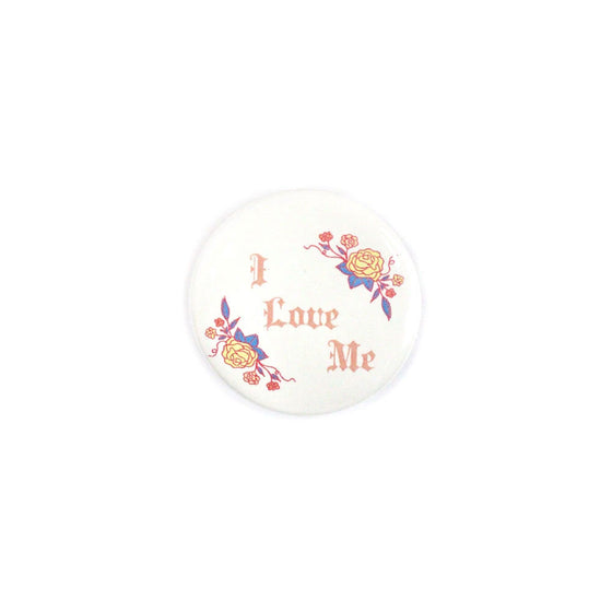 I Love Me Button Creepy Gals - Foursided