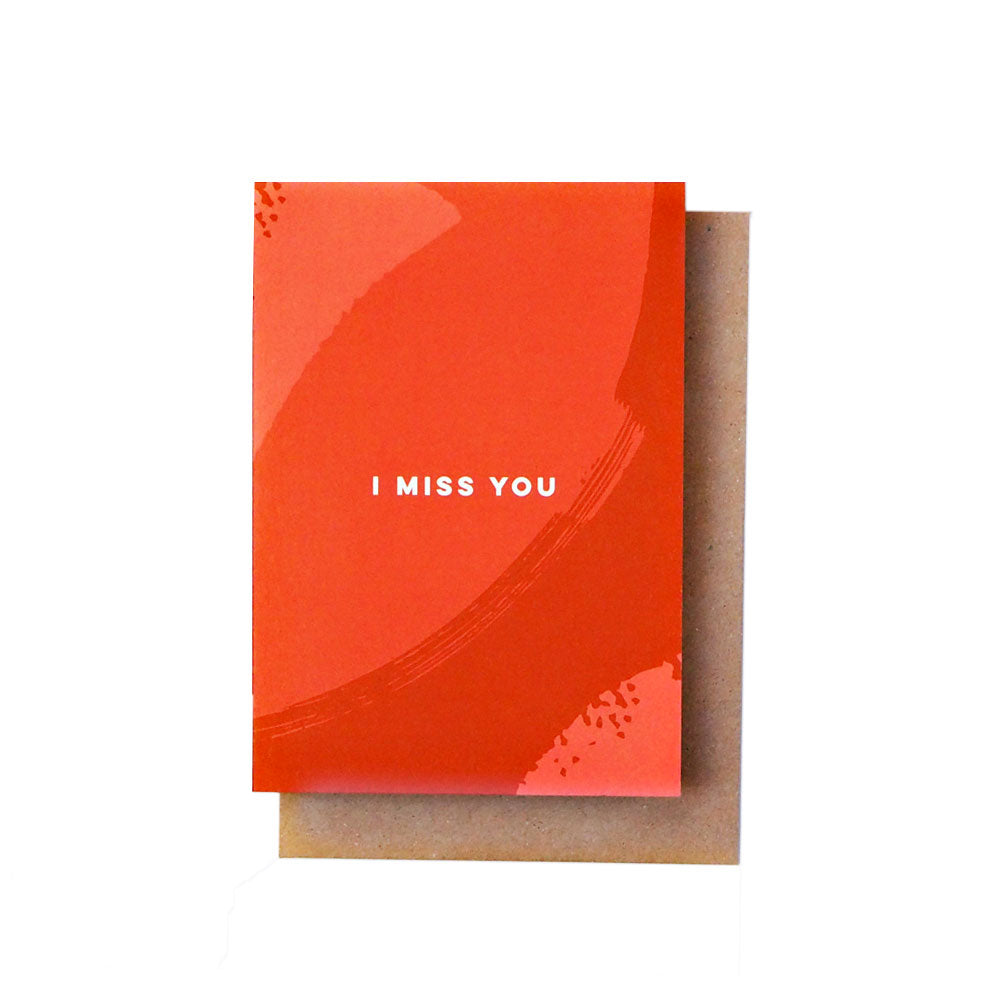 I Miss You Card The Completist - Foursided
