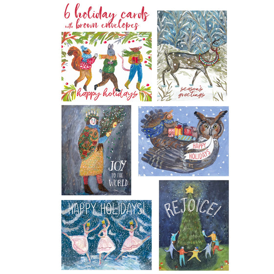 Holiday Collection Card Set (6 assorted)