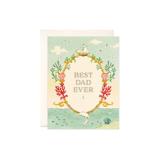 Best Dad Ever Card JooJoo Paper - Foursided